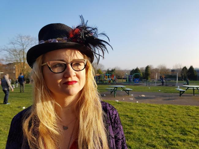 Alda Olafsdottir at the Old Courthouse Recreation Ground 'loves' High Barnet and wants to do something special for the area