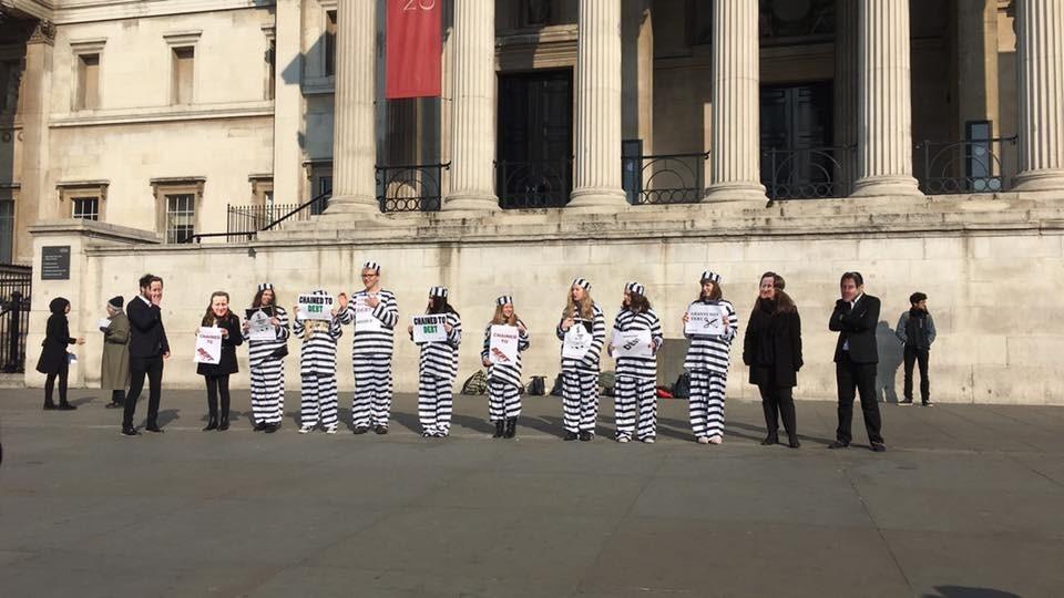 Students protest against unpaid internships [UK]