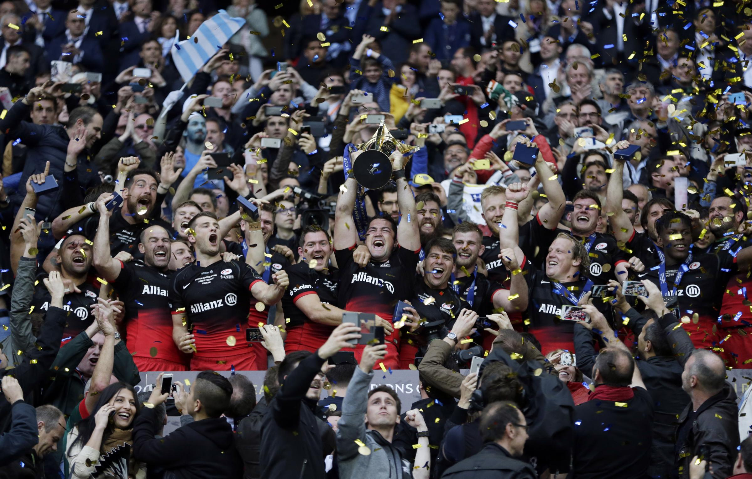 Mission accomplished: Saracens are the new champions of Europe. Picture: Action Images