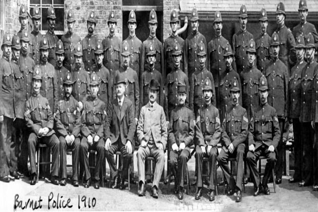 Say cheese: moustaches were part of the uniform for Barnet police in 1910