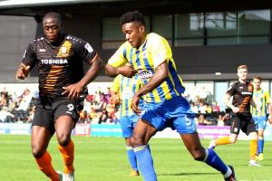 John Akinde was on target again for the Bees. Picture: Len Kerswill