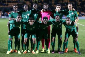 Nigeria's players line up before their draw with Senegal at The Hive on Thursday. Picture: Action Images