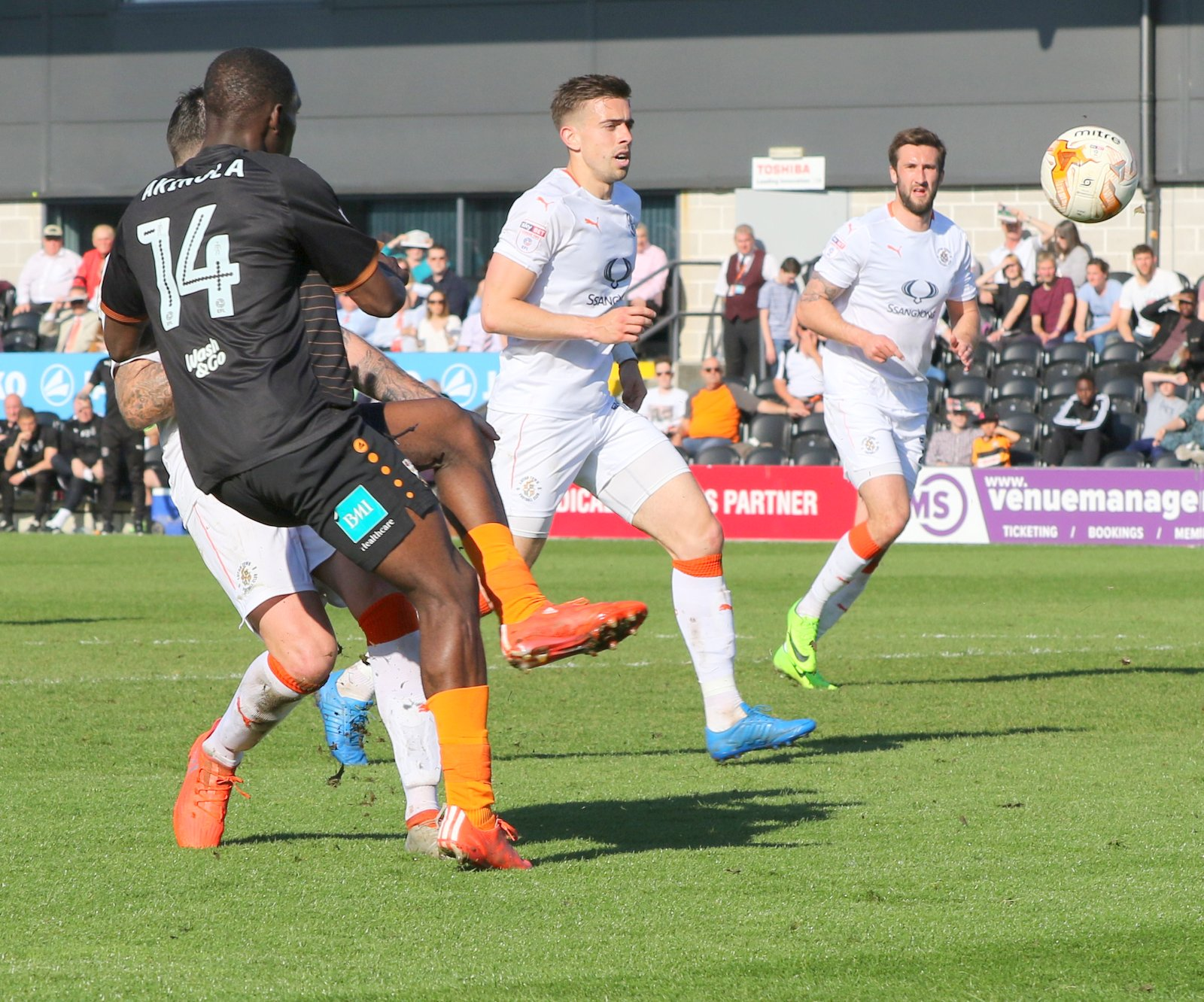 Simeon Akinola grabbed his third league goal of the campaign against Yeovil. Picture: Len Kerswill