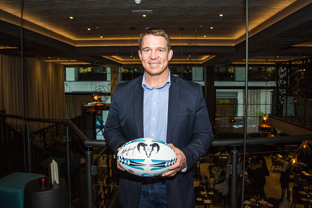 John Smit at the launch party for Rugby Centurions. Picture: Roberto Payne/Sportsbeat
