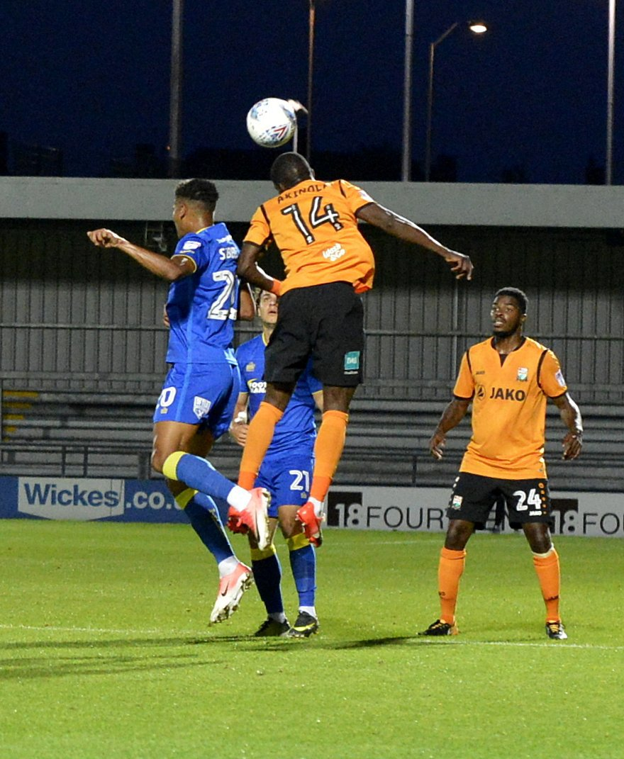 Simeon Akinola scored a late consolation for the Bees. Picture: Len Kerswill