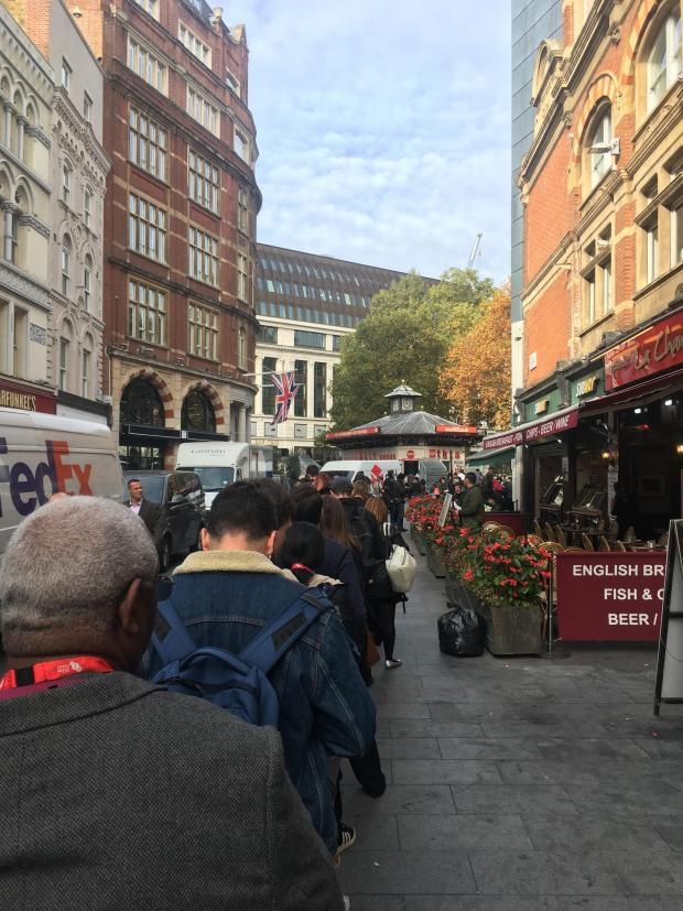 Times Series: One of the many long queues for screenings at the ever-popular festival