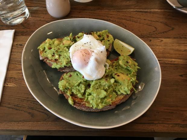 Times Series: Avocado on toast with chilli and lime, and a poached egg