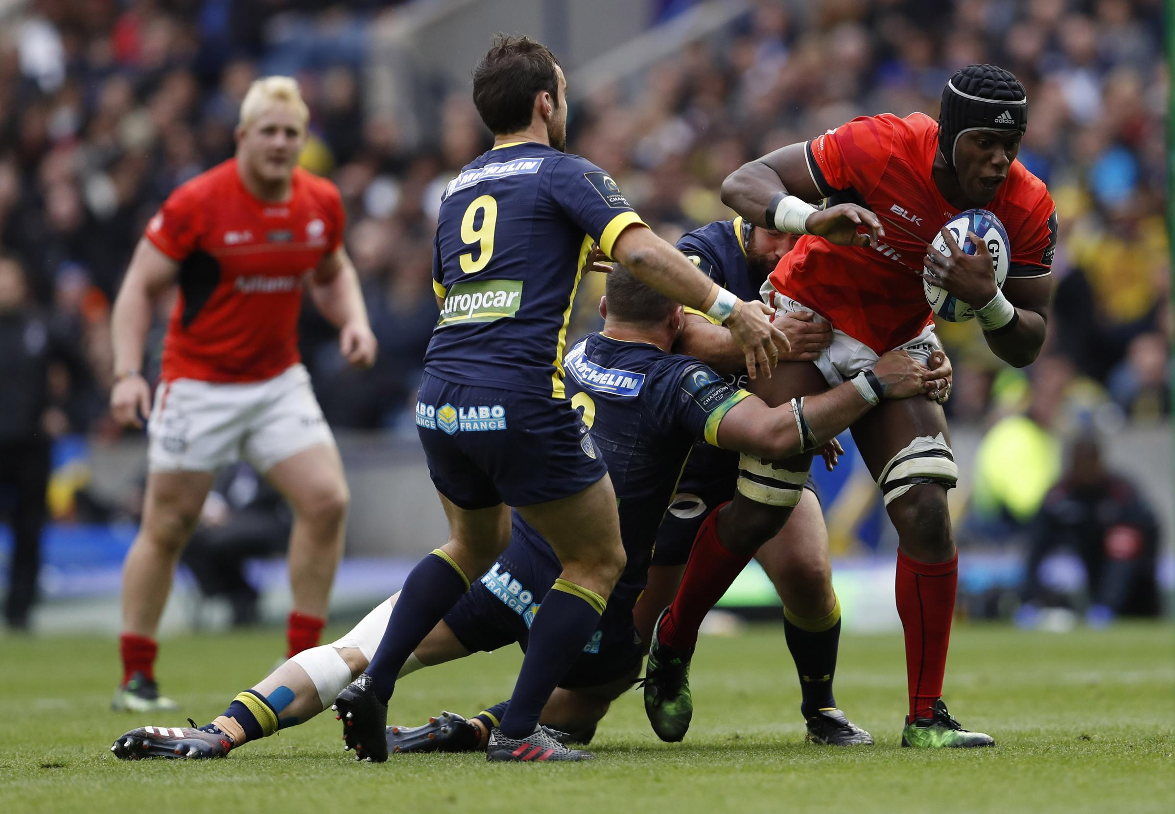 Clermont in action against Saracens in last season's Champions Cup final. Picture: Action Images