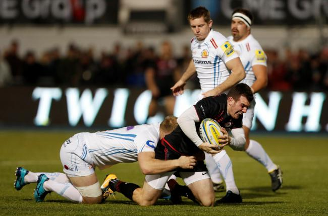 Ben Spencer scored Saracens' first try. Picture: Action Images