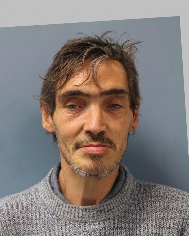 Simon Hopson, 50, from Brent, is wanted for questioning relating to a theft. He has connections to Cricklewood