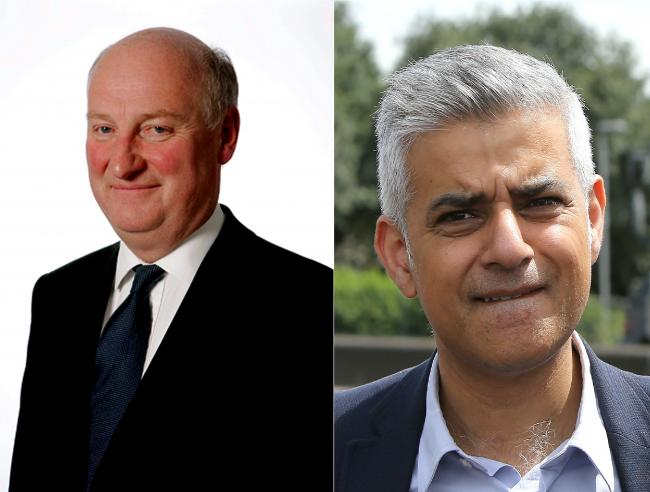 Cllr Richard Cornelius and Mayor Sadiq Khan disagreed over council tax increases