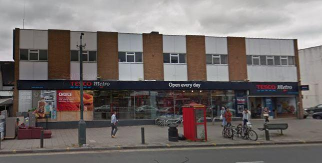 Tesco Metro in Burnt Oak Broadway, Edgware