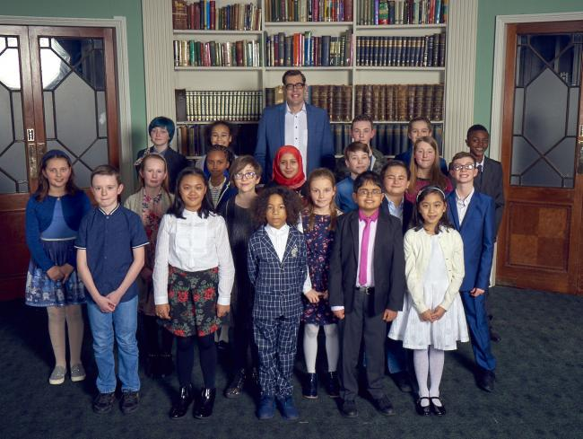 The cast of last year's Child Genius