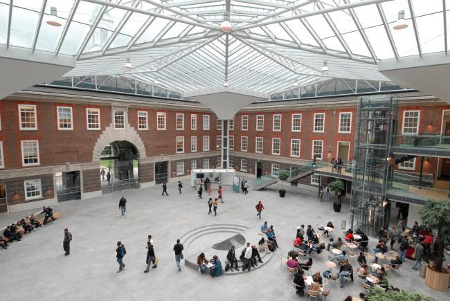 The Quadrangle at Middlesex University, where the ceremony will take place