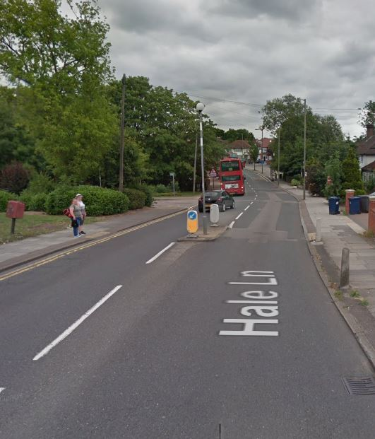 Hale Lane in Edgware, where a pipe is being fixed (Photo: Google Maps)