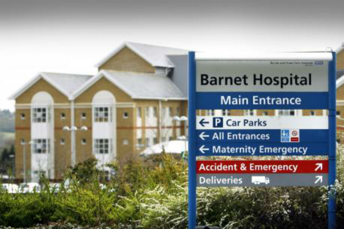 Barnet Hospital taped off due to 'suspicious substance'