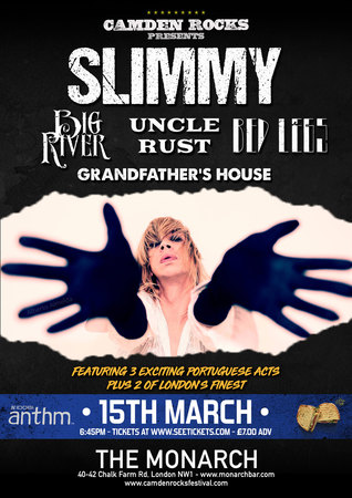Camden Rocks presents Slimmy and more at The Monarch
