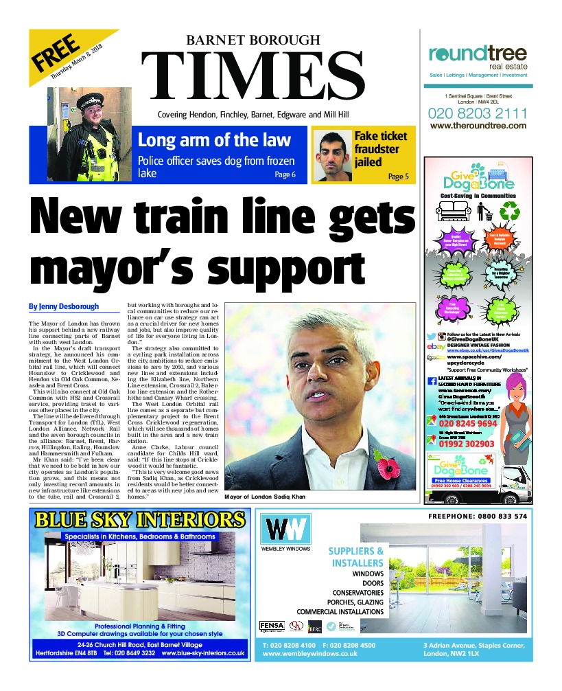 The Barnet Borough Times can be picked up from more places than ever