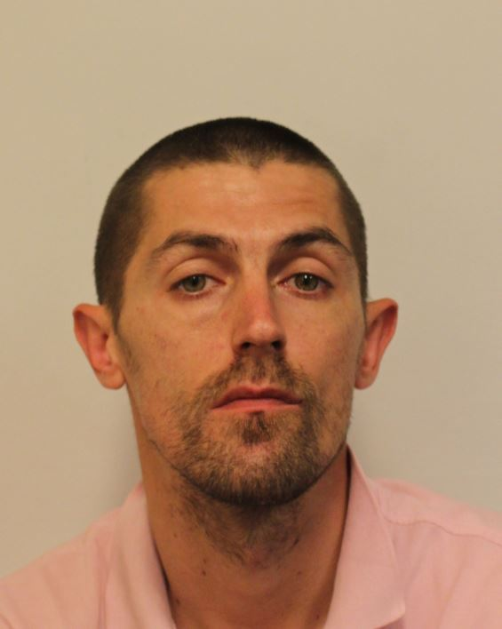 Andrew Eyers, 35, Barnet, is wanted on warrant at Harrow Crown Court for drugs offences. Ref 01SX/659091.