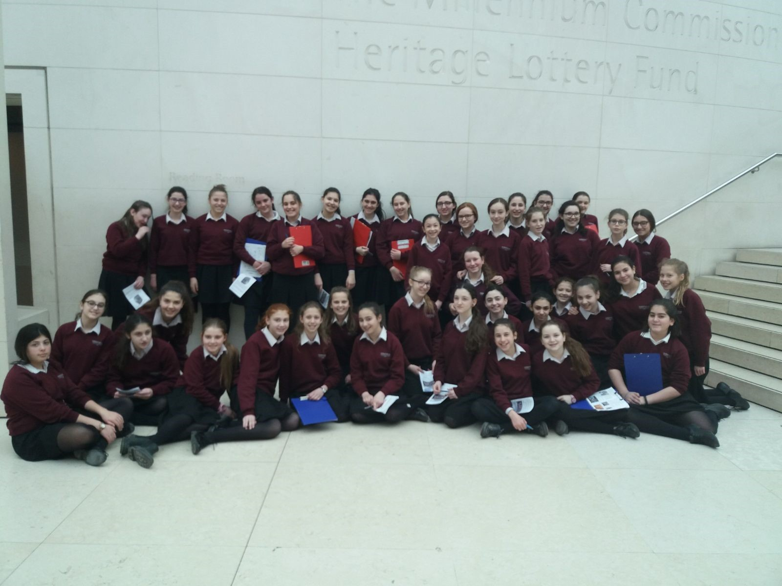 Hasmonean High School organised a trip to the British museum for students to learn about the story of the Jews in Egypt