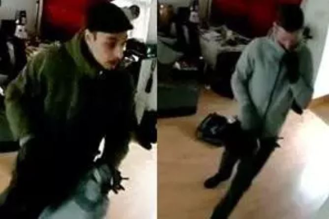 Police want to speak to these two men in connection with a burglary in Barnet