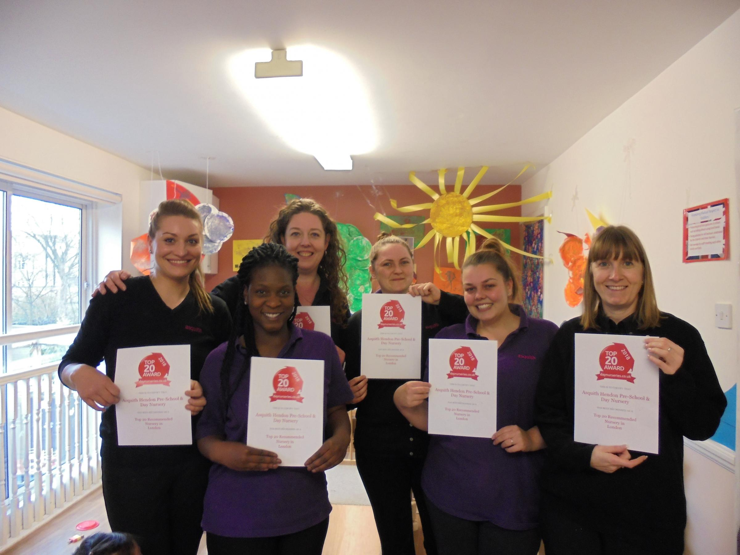 Bright Horizons Asquith Hendon Pre-School and Day Nursery has been rated among the top 20 nurseries throughout London.