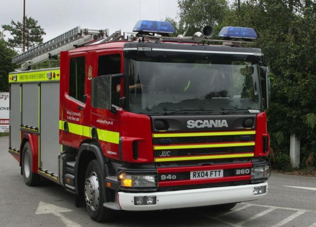 Fire Brigade called to garage in weekend blaze