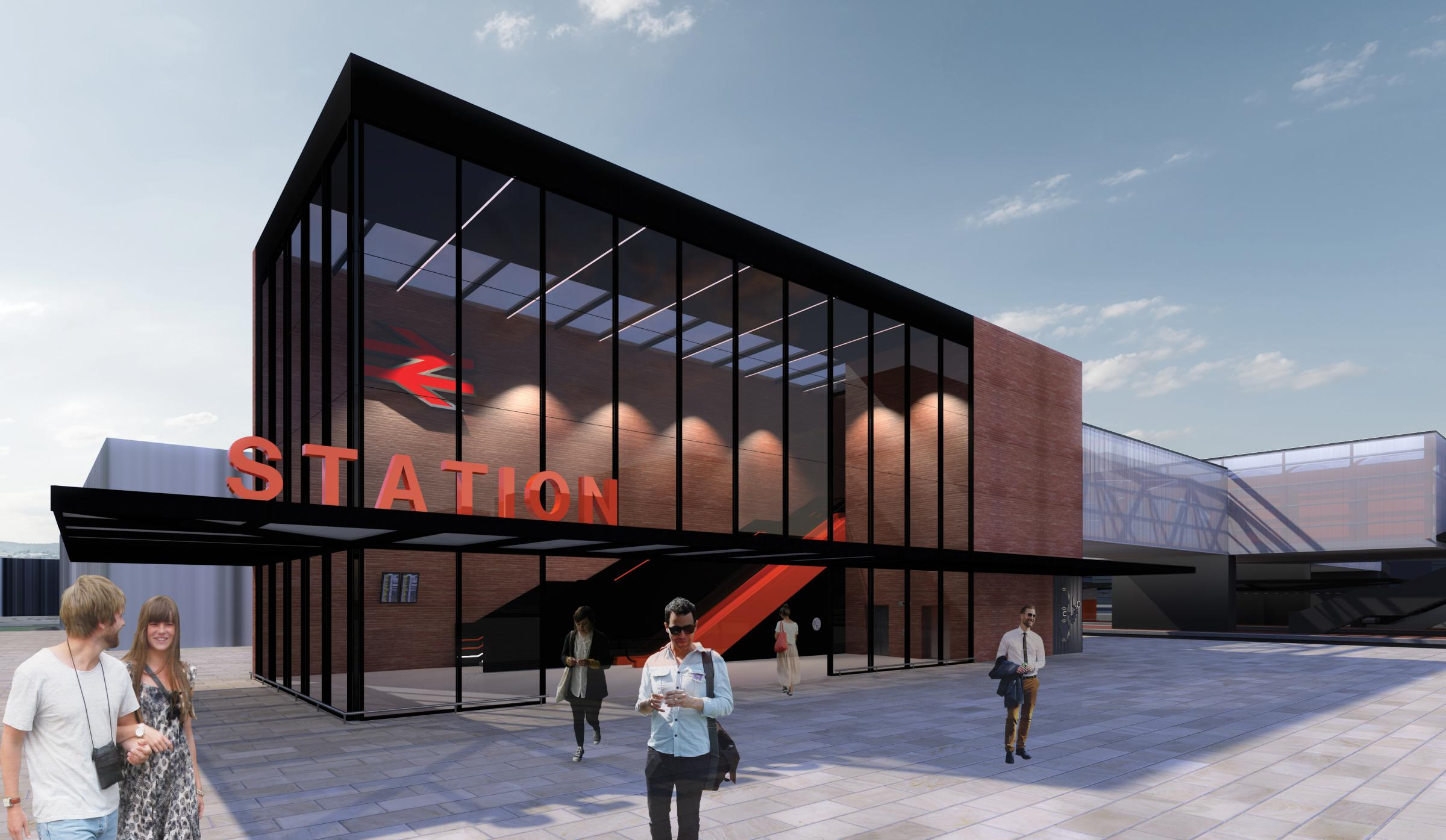 An artistic impression as to what the station will look like