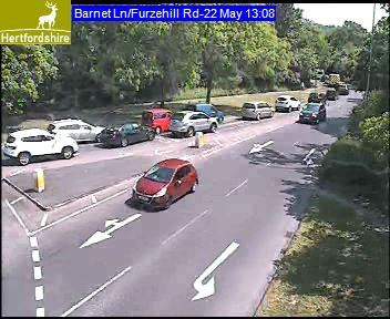 Traffic on Barnet Lane towards Stirling Corner Credit: Herts Highways