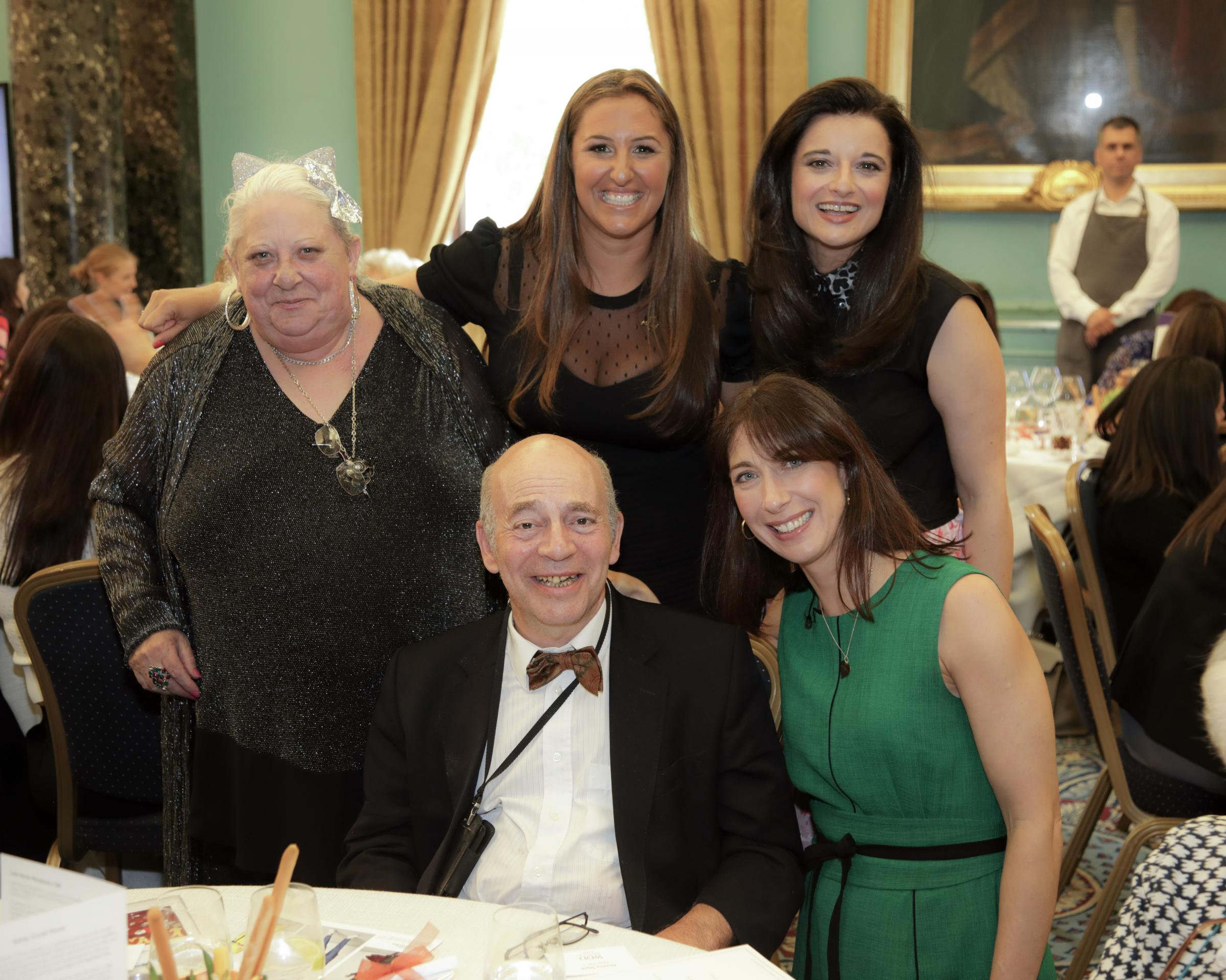 Mark with former Sidney Carob resident Susan with Samantha Cameron, Danielle Lipton and Danielle Hess