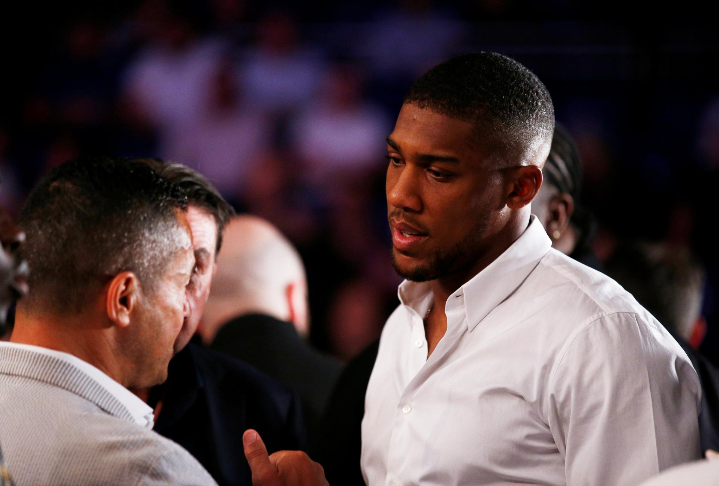 Anthony Joshua is currently in the USA. Picture: Action Images