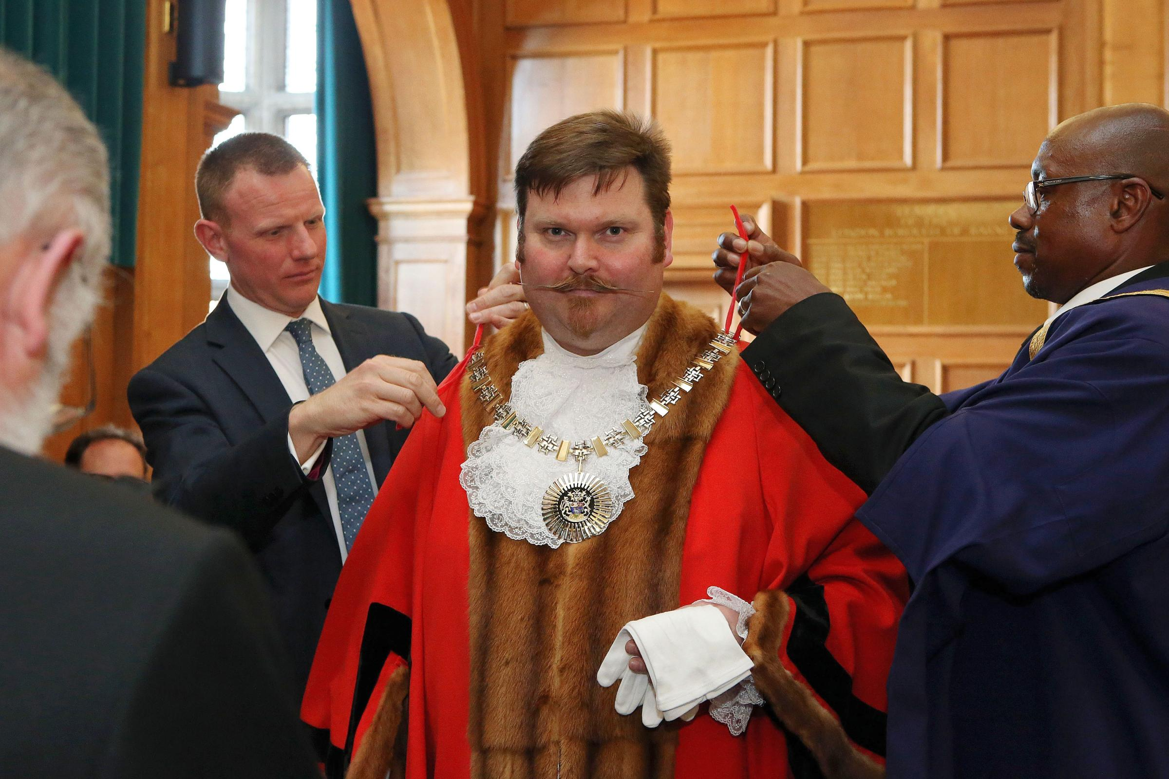 New mayor cllr Reuben Thompstone