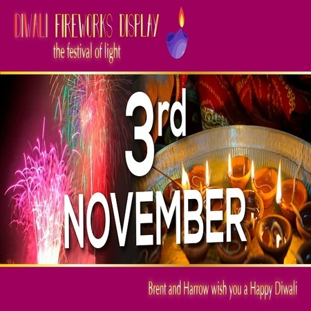 Diwali Fireworks Display and festival London 3rd November 2018