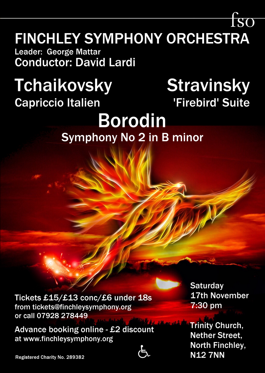 Finchley Symphony Orchestra present a concert of Russian orchestral fireworks