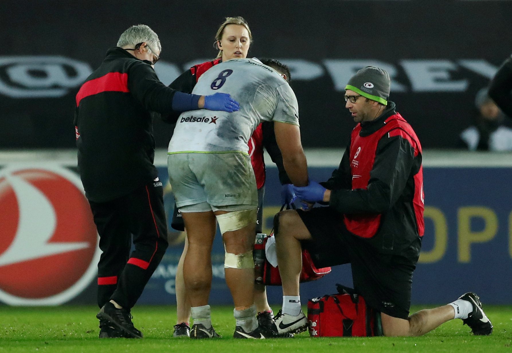 Billy Vunipola's injury misfortune has struck again. Picture: Action Images