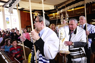 Afterlife: Congregants at Hendon Reform Synagogue believe the Torah scroll is now in its spiritual home