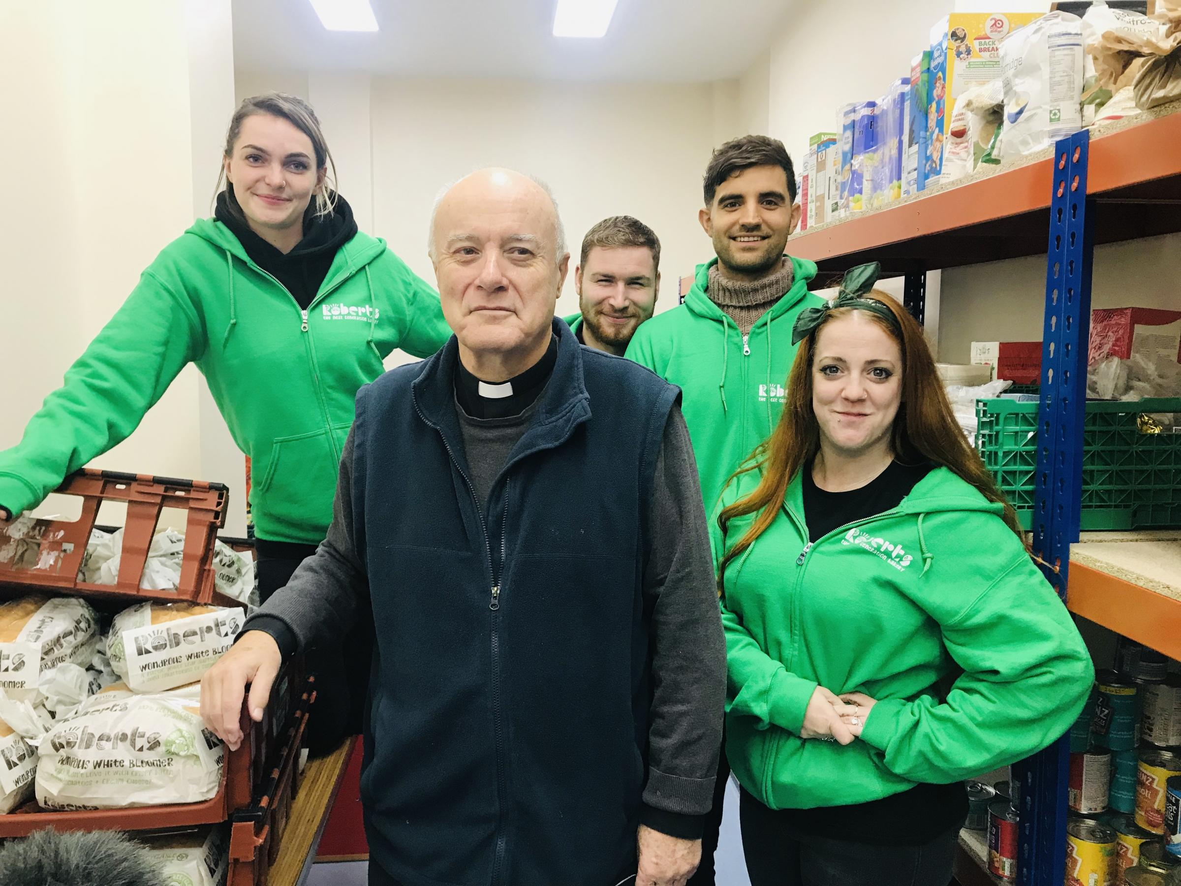 Volunteers from Roberts Bakery rose to the occasion to give their repackaged loaves over to the Finchley foodbank in High Road, East Finchley