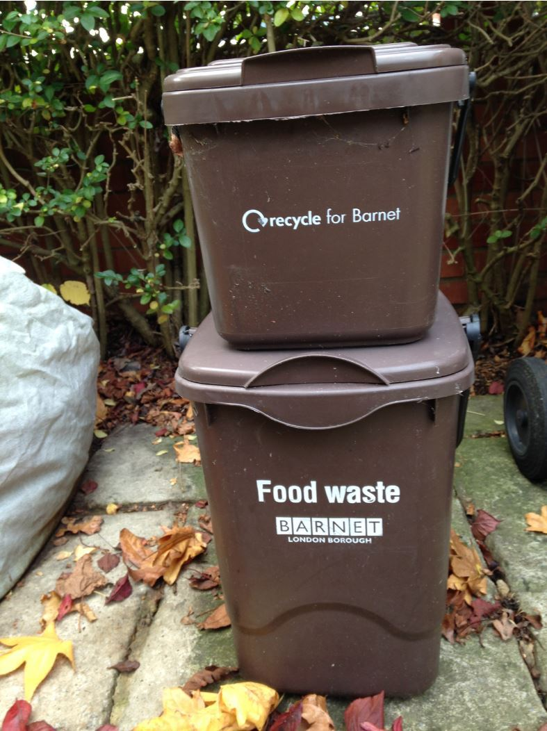 Barnet's brown food waste bins
