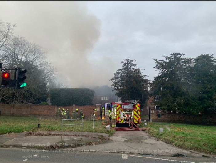 A picture from the scene earlier today. Picture: MPS Barnet