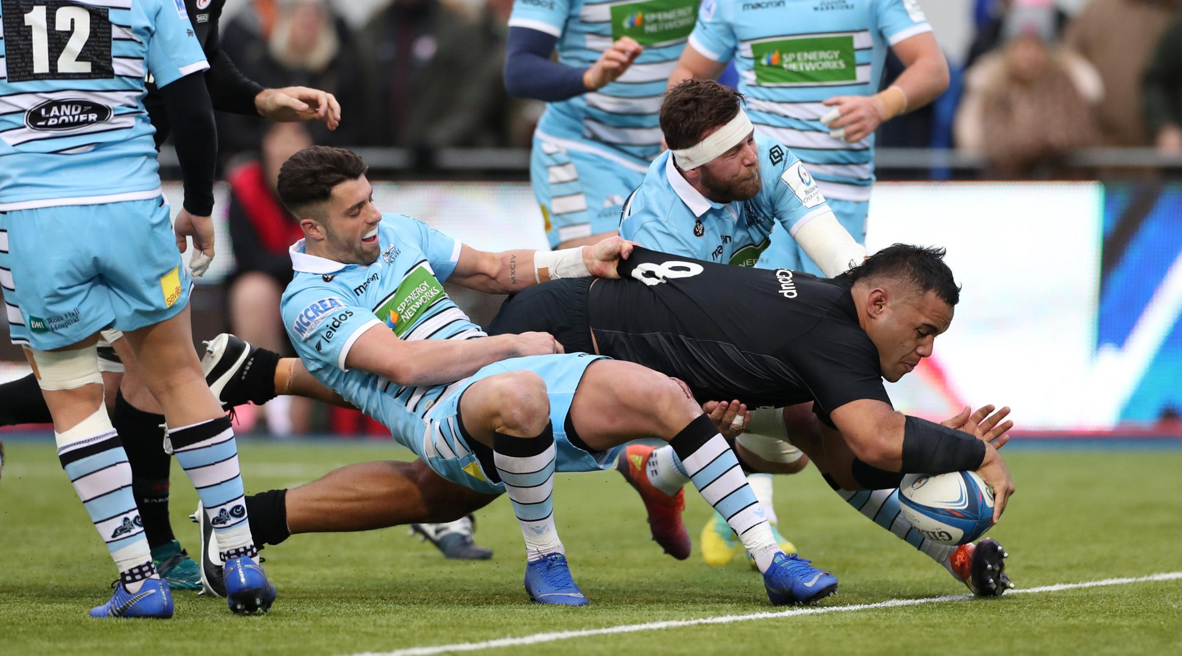 Billy Vunipola scores for Saracens. Picture: Action Images