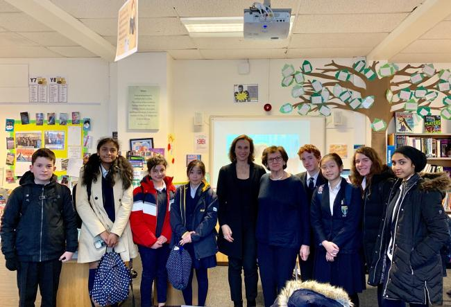 On Monday Lady Zahava Kohn and her daughter Hephzibah Rudofsky presented stories about the Holocaust to year 9 at Friern Barnet School