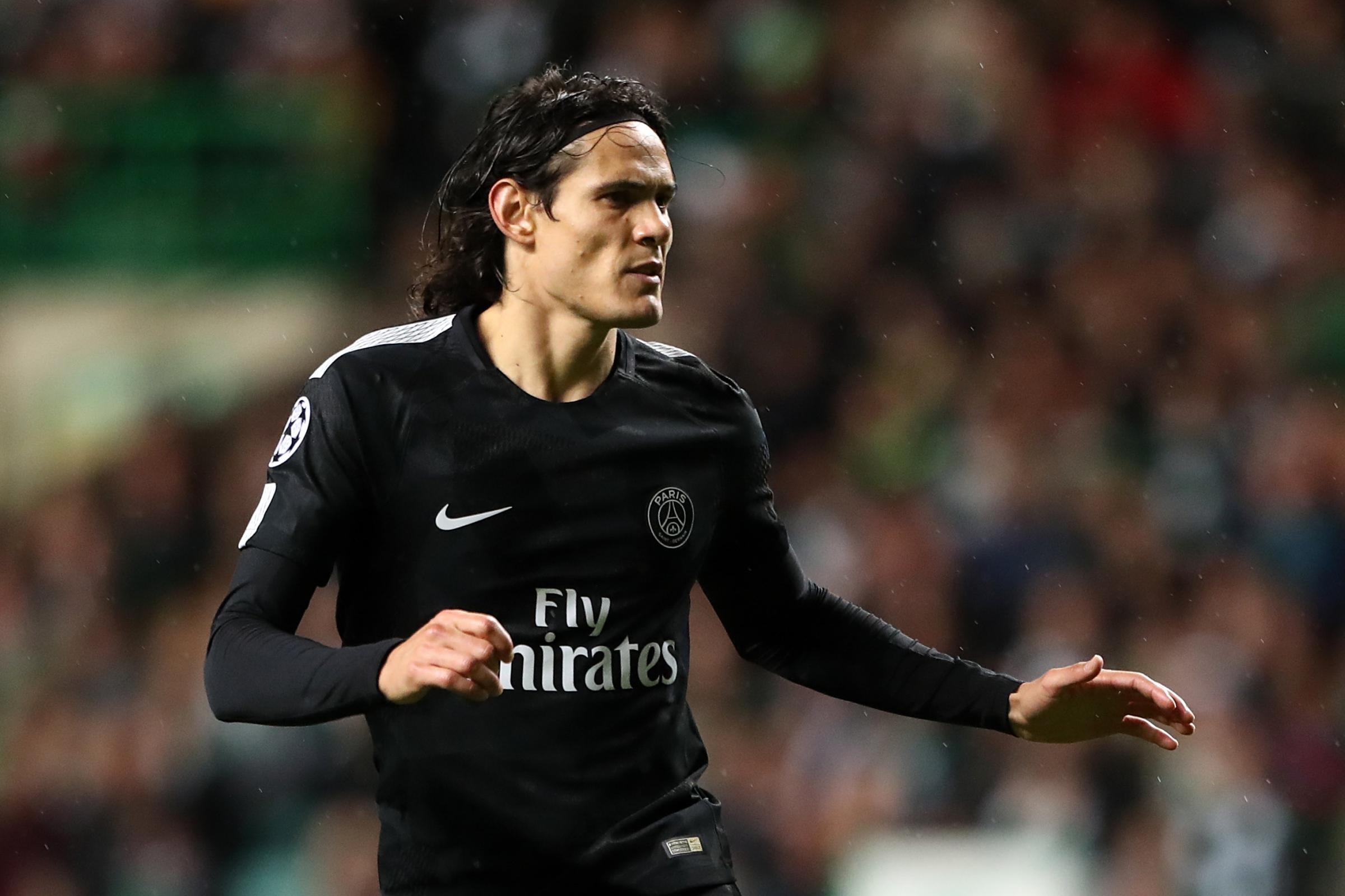 Edinson Cavani could miss the game against Manchester United