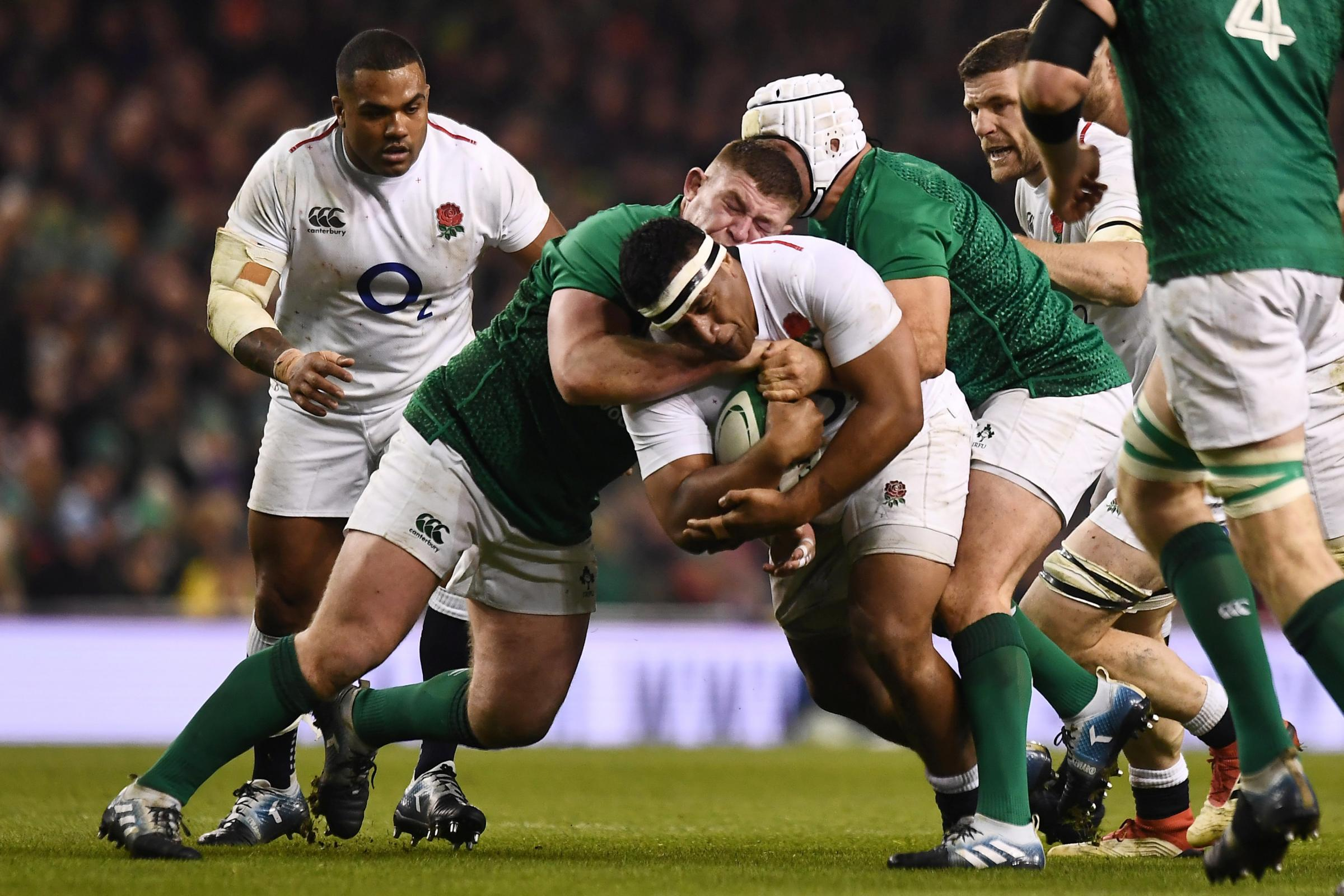 Mako Vunipola was named man of the match against Ireland. Picture: Action Images