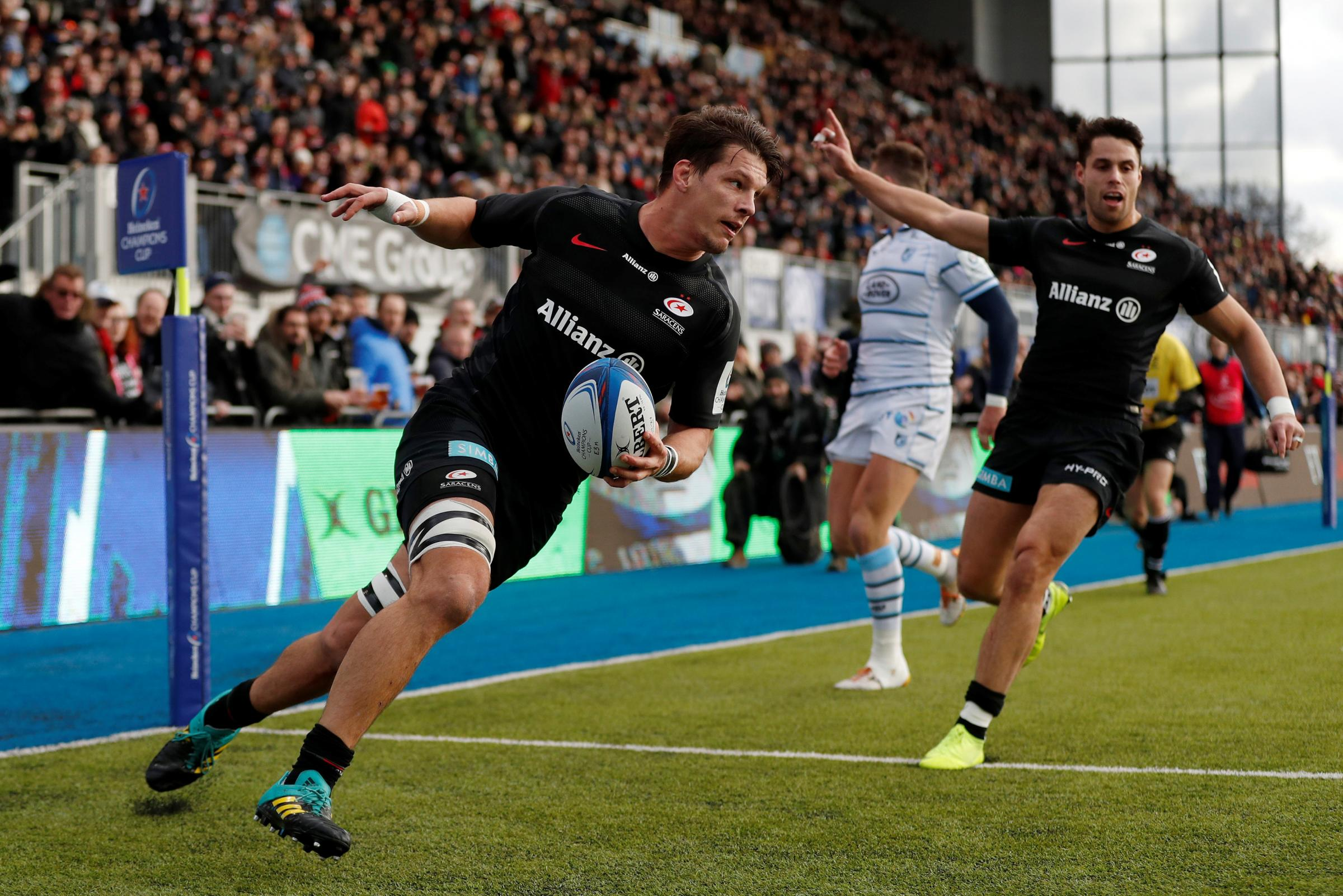 Michael Rhodes will miss the Champions Cup quarter-final. Picture: Action Images