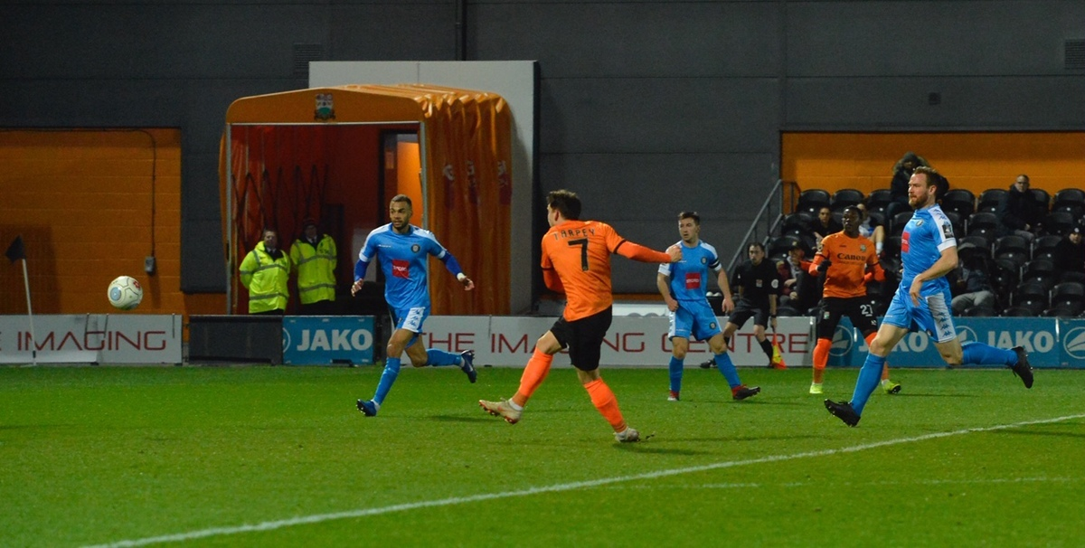 Barnet's unbeaten National League run came to an end against Maidstone United last night. Picture: Len Kerswill