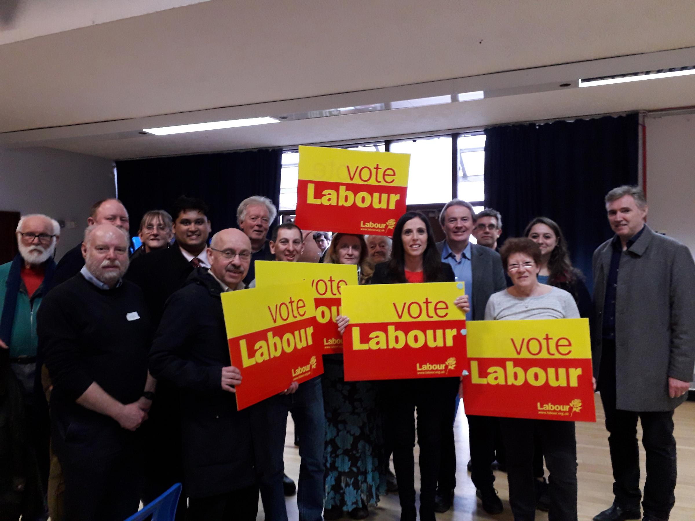 Sarah Conway celebrates becoming Labour's Finchley and Golders Green candidate