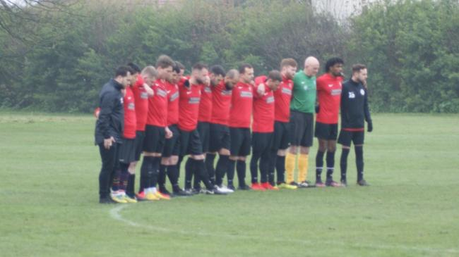 Highgate Albion held a minute's silence before their Barnet Sunday League game in memory of Calvin Bungisa. Picture: John Eager