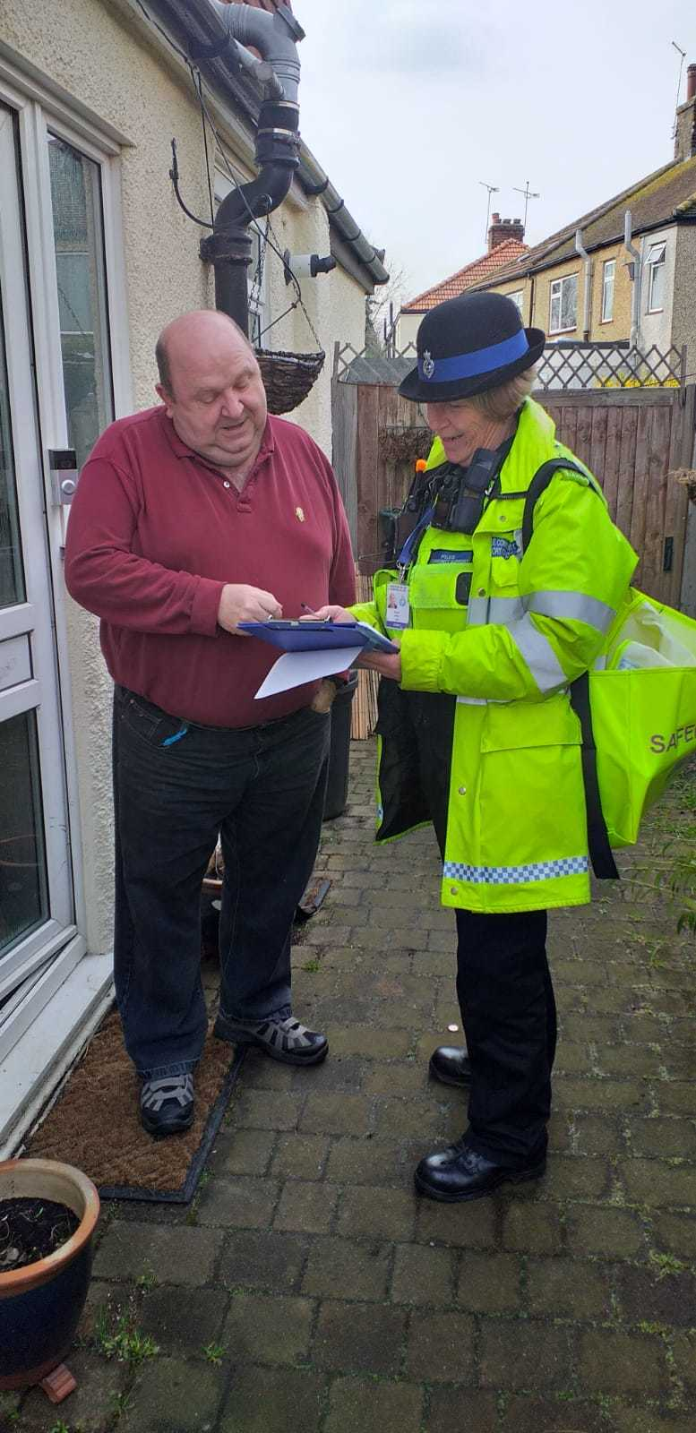 The event took place in Laurel Avenue, Potters Bar on Wednesday.