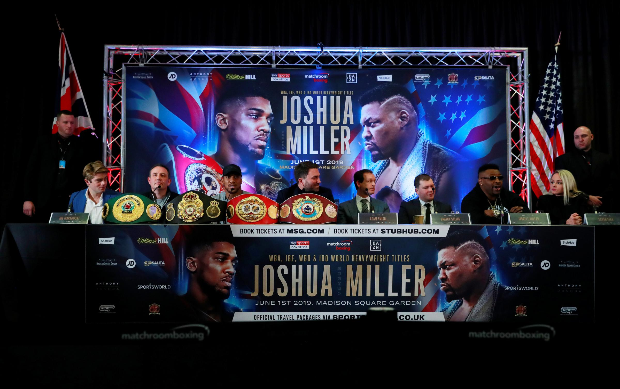 Anthony Joshua and Jarrell Miller had been due to meet on June 1. Picture: Action Images