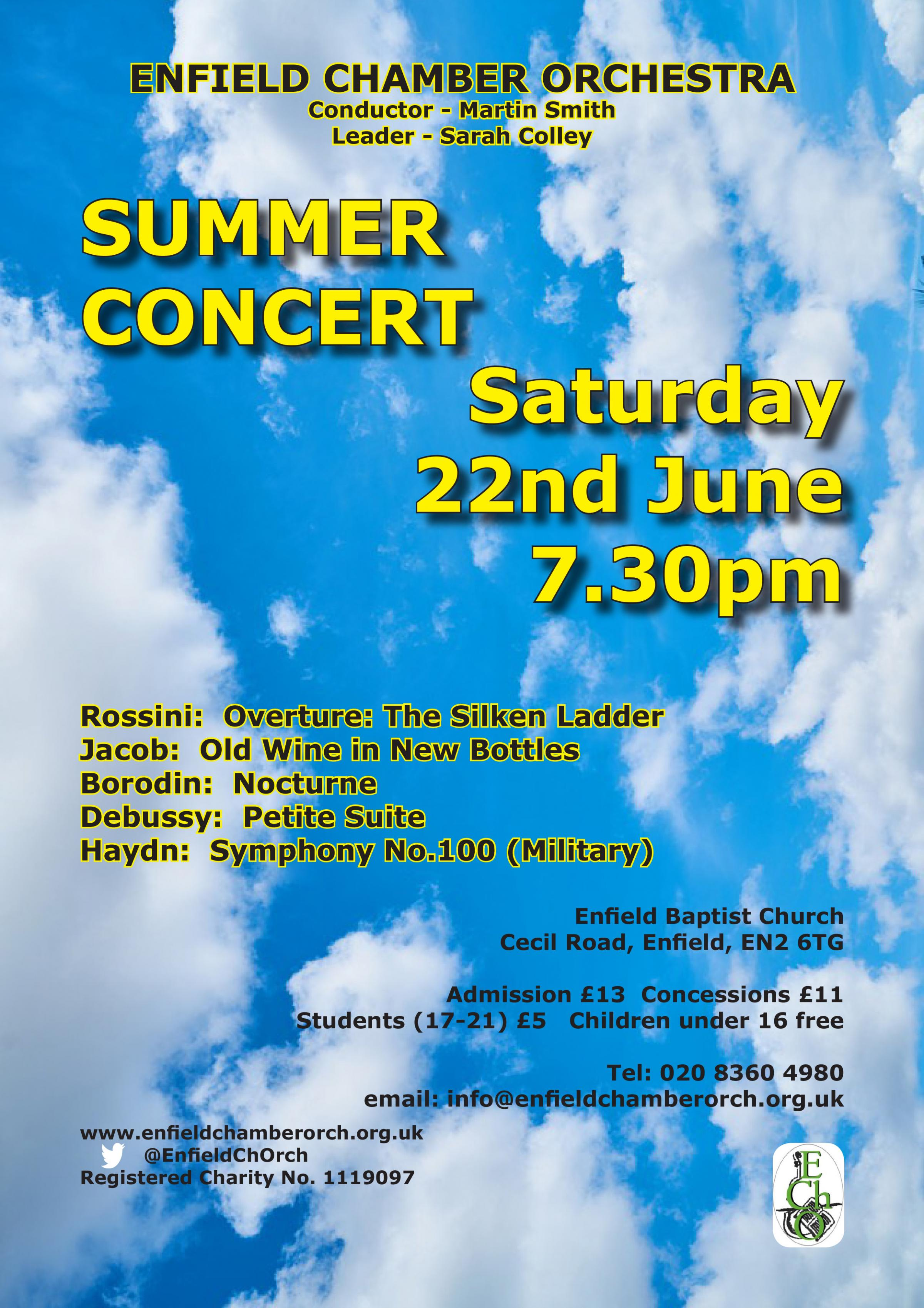 Enfield Chamber Orchestra Concert